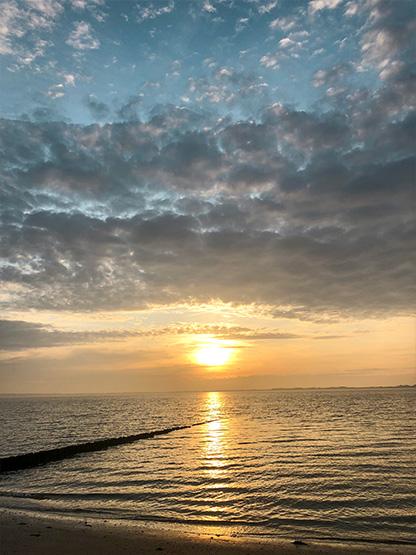Sonnenuntergang Föhr Ausflug Strand Westenend Reethüs 1638