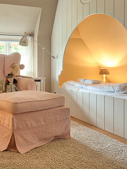 Ferienhaus Föhrperle Kinderzimmer gemütliche Alkovenbetten zum Träumen